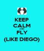 KEEP CALM AND FLY (LIKE DIEGO) - Personalised Poster A4 size
