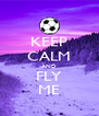 KEEP CALM AND FLY ME - Personalised Poster A4 size