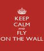 KEEP CALM AND FLY ON THE WALL - Personalised Poster A4 size