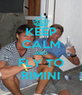 KEEP CALM AND FLY TO RIMINI - Personalised Poster A4 size