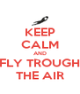 KEEP CALM AND FLY TROUGH THE AIR - Personalised Poster A4 size