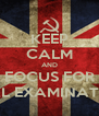 KEEP CALM AND FOCUS FOR FINAL EXAMINATIONS - Personalised Poster A4 size
