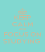 KEEP CALM AND FOCUS ON STUDYING  - Personalised Poster A4 size