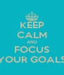 KEEP CALM AND FOCUS YOUR GOALS - Personalised Poster A4 size