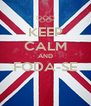 KEEP CALM AND FODA-SE  - Personalised Poster A4 size