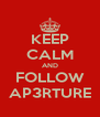KEEP CALM AND FOLLOW AP3RTURE - Personalised Poster A4 size