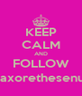 KEEP CALM AND FOLLOW @axorethesenuts - Personalised Poster A4 size