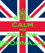 KEEP CALM AND FOLLOW @BOONAJAH - Personalised Poster A4 size
