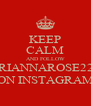 KEEP CALM AND FOLLOW BRIANNAROSE222 ON INSTAGRAM - Personalised Poster A4 size