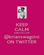 KEEP CALM AND FOLLOW @brianswagcini ON TWITTER - Personalised Poster A4 size