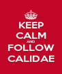 KEEP CALM AND FOLLOW CALIDAE - Personalised Poster A4 size