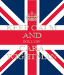 KEEP CALM AND FOLLOW CARA WIGHTMAN - Personalised Poster A4 size