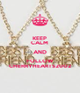 KEEP CALM AND FOLLOW CHERRYHEARTS2002 - Personalised Poster A4 size