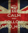 KEEP CALM AND FOLLOW JAMO_HORNE - Personalised Poster A4 size