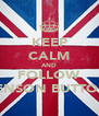 KEEP CALM AND FOLLOW JENSON BUTTON - Personalised Poster A4 size