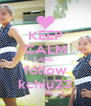 KEEP CALM AND follow kchiu23 - Personalised Poster A4 size