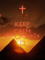 KEEP CALM And Follow @M_Jessie2x Δ - Personalised Poster A4 size