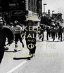 KEEP CALM AND  FOLLOW ME @alfidomichael - Personalised Poster A4 size