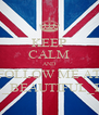 KEEP CALM AND FOLLOW ME AT @23_BEAUTIFUL_PAO  - Personalised Poster A4 size