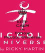 KEEP CALM AND Follow Piccolo Universe - Personalised Poster A4 size