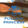 KEEP CALM AND FOLLOW PRINCESS - Personalised Poster A4 size