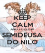 KEEP CALM AND FOLLOW SEMIDEUSA DO NILO - Personalised Poster A4 size