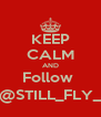 KEEP CALM AND Follow  @STILL_FLY_ - Personalised Poster A4 size