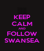 KEEP CALM AND FOLLOW SWANSEA - Personalised Poster A4 size