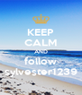 KEEP CALM AND follow sylvester1239 - Personalised Poster A4 size