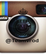 KEEP CALM AND Follow  @Teamvrod  - Personalised Poster A4 size