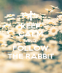 KEEP CALM AND FOLLOW THE RABBIT - Personalised Poster A4 size