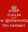 KEEP CALM AND Follow @themollyboys On twitter! - Personalised Poster A4 size