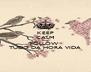KEEP CALM AND FOLLOW  TUDO DA HORA VIDA - Personalised Poster A4 size