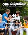 KEEP CALM AND FOLLOW UP ALL NIGHT - Personalised Poster A4 size