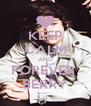 KEEP CALM AND FOREVER  BERRY - Personalised Poster A4 size