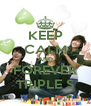 KEEP CALM AND FOREVER TRIPLE S - Personalised Poster A4 size