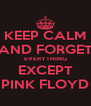 KEEP CALM AND FORGET EVERYTHING EXCEPT PINK FLOYD - Personalised Poster A4 size
