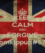 KEEP CALM AND FORGIVE #yomkippur #5774 - Personalised Poster A4 size