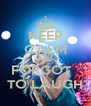 KEEP CALM AND FORGOT   TO LAUGH - Personalised Poster A4 size