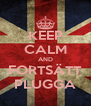 KEEP CALM AND FORTSÄTT PLUGGA - Personalised Poster A4 size
