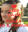 KEEP CALM AND FORZA PINO IL PINGUINO - Personalised Poster A4 size