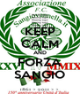 KEEP CALM AND FORZA SANGIO - Personalised Poster A4 size