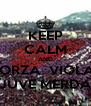KEEP CALM AND FORZA  VIOLA  JUVE MERDA - Personalised Poster A4 size