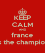 KEEP CALM AND france is the champion - Personalised Poster A4 size