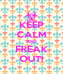 KEEP CALM AND FREAK OUT! - Personalised Poster A4 size