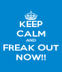 KEEP CALM AND FREAK OUT NOW!! - Personalised Poster A4 size