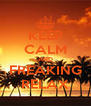 KEEP CALM AND FREAKING RELAX - Personalised Poster A4 size