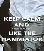 KEEP CALM AND FREE BALLS IT LIKE THE HAMMIATOR - Personalised Poster A4 size