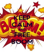 KEEP CALM AND FREE BOOM - Personalised Poster A4 size
