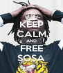 KEEP CALM AND FREE SOSA - Personalised Poster A4 size